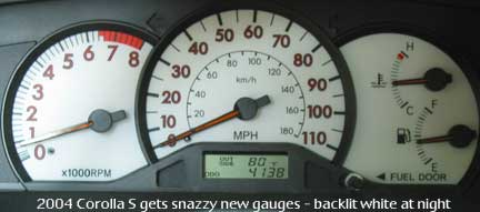 2004 Corolla S gauges