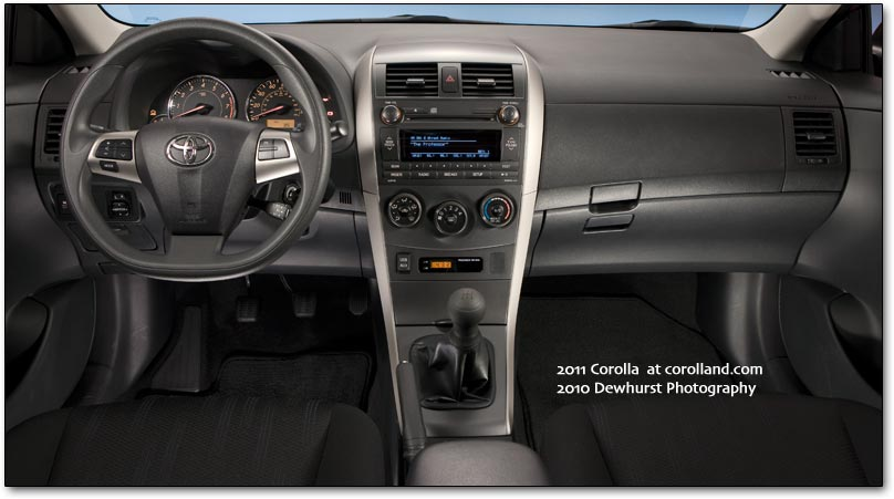 2011 Toyota Corolla car interior