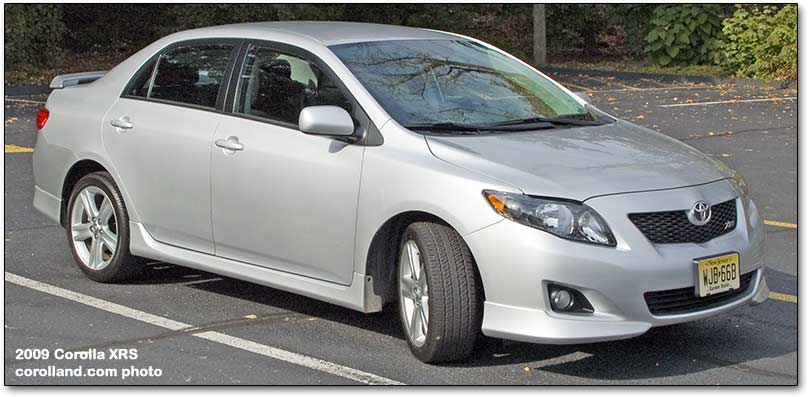 2009 toyota corolla xrs car review. Black Bedroom Furniture Sets. Home Design Ideas