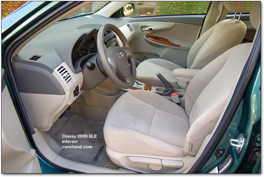 cloth seats for 2009 corolla review