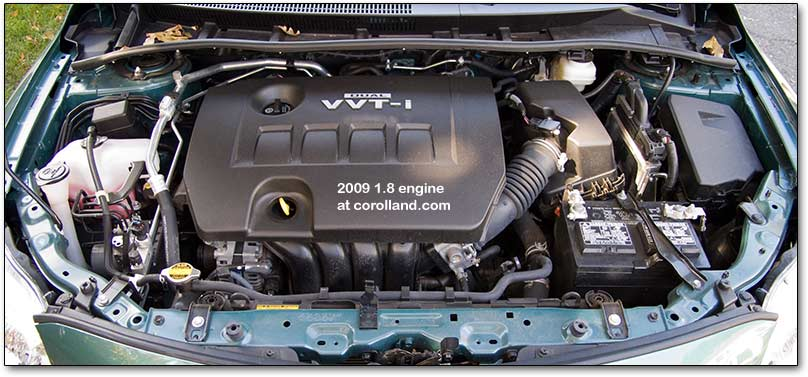 2009 Corolla Engine